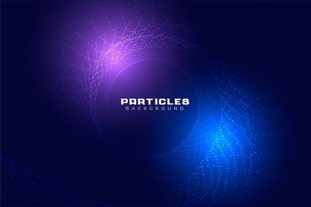 Diseño de fondo de partículas de estilo abstracto tecnología brillante