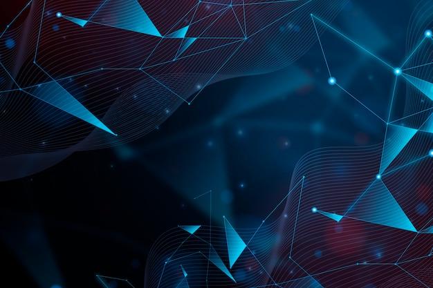 Diseño de fondo de partículas de tecnología realista abstracta
