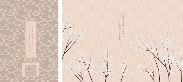 Diseño de fondo de patrón abstracto de estilo japonés oriental