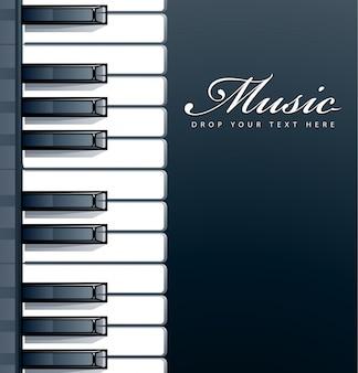 Diseño de fondo de piano