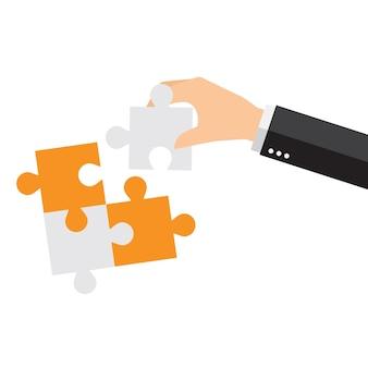 Diseño de fondo de piezas de puzzle
