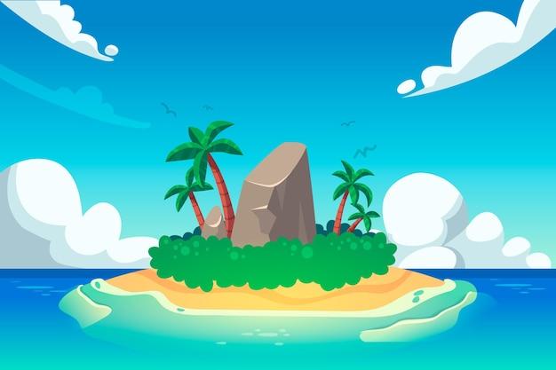 Diseño de fondo plano de verano