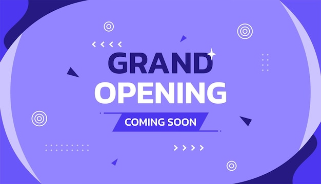 Diseño de fondo de la plantilla de vector de promoción de gran inauguración