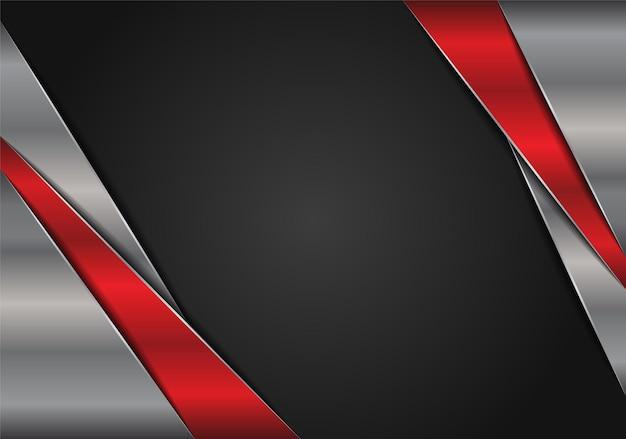 Diseño de fondo de plata rojo metálico de lujo moderno