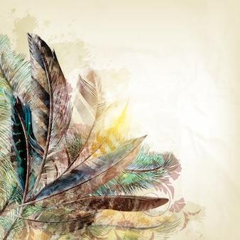 Diseño de fondo de plumas