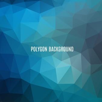 Diseño de fondo poligonal azul