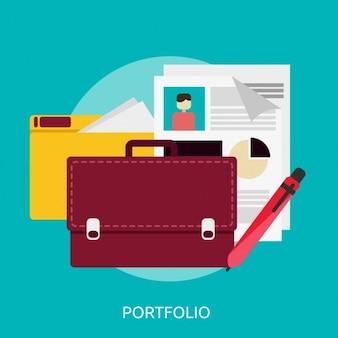 Diseño de fondo de portfolio
