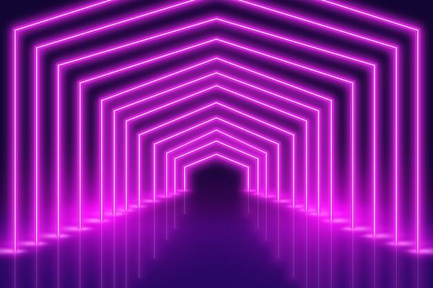 Diseño de fondo púrpura de luces de neón
