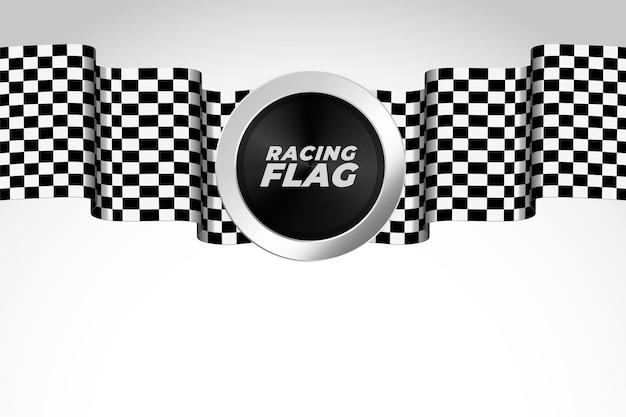 Diseño de fondo realista de bandera de carreras