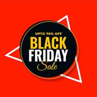 Diseño de fondo rojo moderno de venta de viernes negro