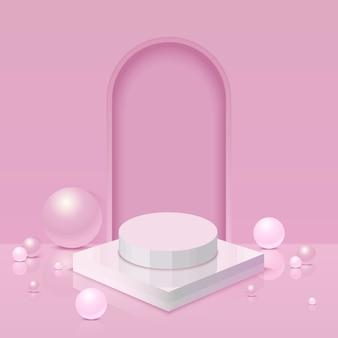 Diseño de fondo rosa 3d