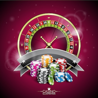 Diseño de fondo de ruleta de casino
