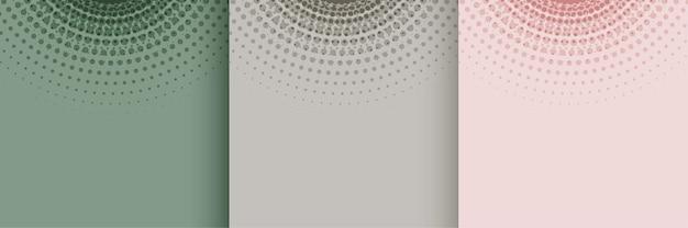 Diseño de fondo de semitono suave de color pastel