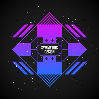 Diseño de fondo simétrico