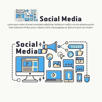 Diseño de fondo de social media