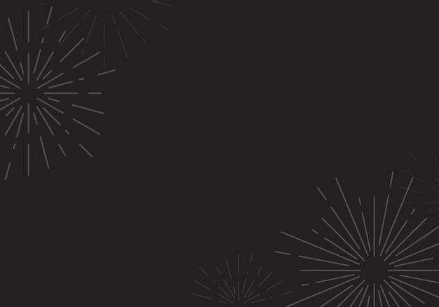 Diseño de fondo sunburst en vector negro