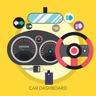 Diseño de fondo de tablero de mandos de coche