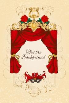 Diseño de fondo de teatro