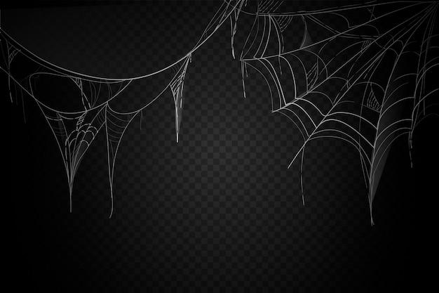 Diseño de fondo de telaraña de halloween