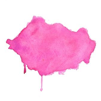 Diseño de fondo de textura abstracta de mancha de acuarela rosa