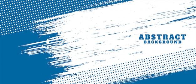 Diseño de fondo de textura grunge abstracto azul y blanco