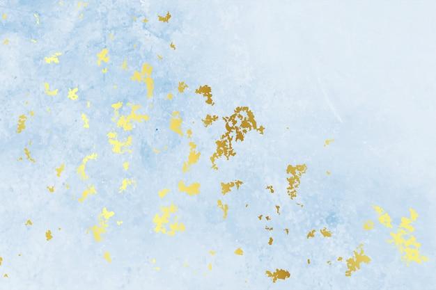 Diseño de fondo de textura de hoja de oro azul vintage