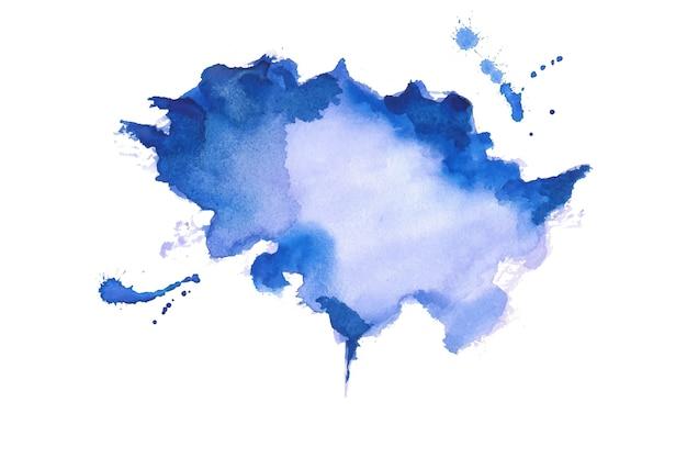 Diseño de fondo de textura de mancha de acuarela azul abstracto