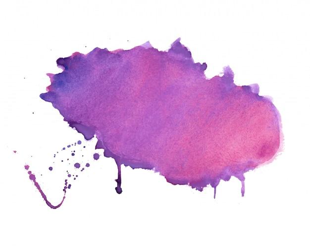Diseño de fondo de textura de mancha de acuarela de sombra púrpura