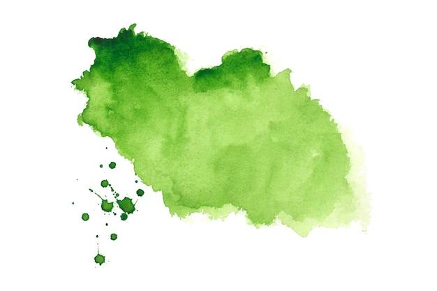 Diseño de fondo de textura de mancha de salpicadura de acuarela verde abstracto
