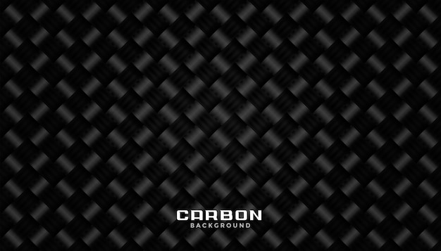 Diseño de fondo de textura de patrón de fibra de carbono negro