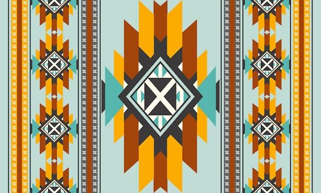 Diseño de fondo tradicional de vector de patrones sin fisuras étnicas orientales para alfombras, fondos de pantalla, ropa, envoltura, batik, tela, estilo de bordado de ilustración vectorial.