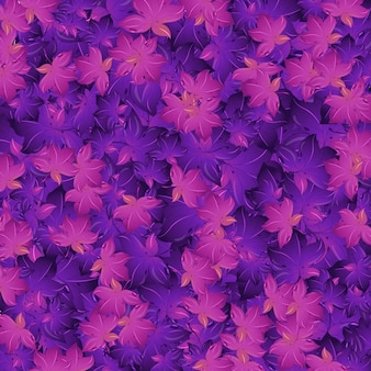 Diseño de fondo transparente con hojas de color púrpura