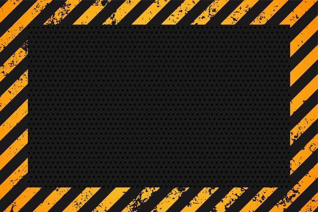 Diseño de fondo vacío de rayas amarillas y negras