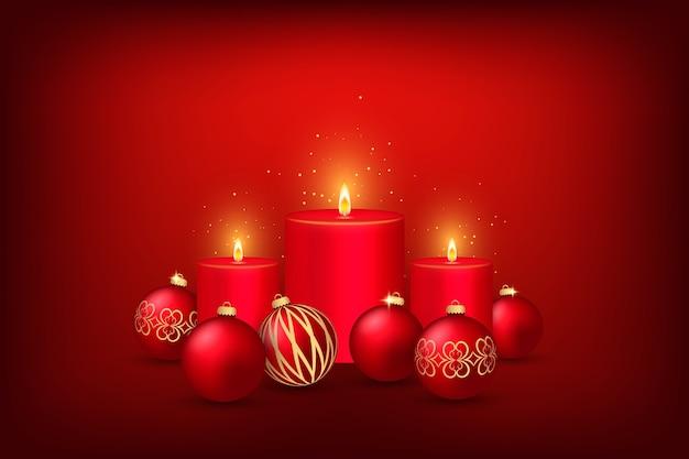Diseño de fondo con vela para navidad