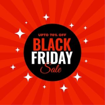 Diseño de fondo de venta de viernes negro rojo