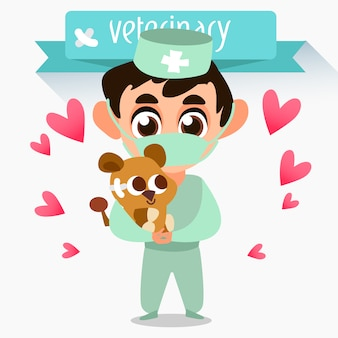 Diseño de fondo de veterinario