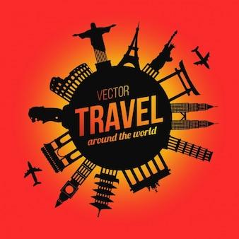 Diseño de fondo de viajes