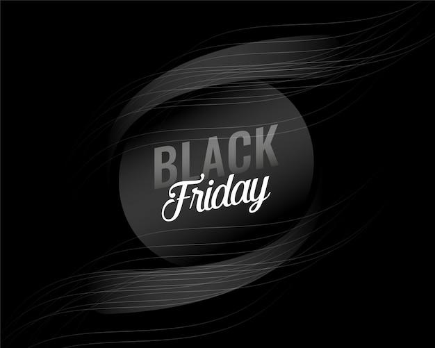 Diseño de fondo de viernes negro oscuro