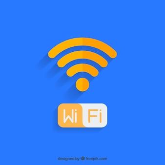 Diseño de fondo de wifi