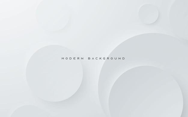Diseño de forma de círculo elegante de fondo plateado claro abstracto moderno