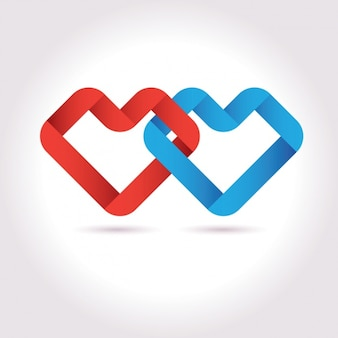 Diseño de forma de corazón abstracto