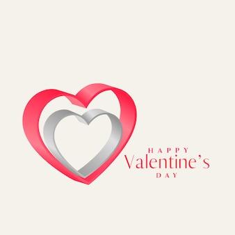 Diseño de forma de corazones 3d para el día de san valentín