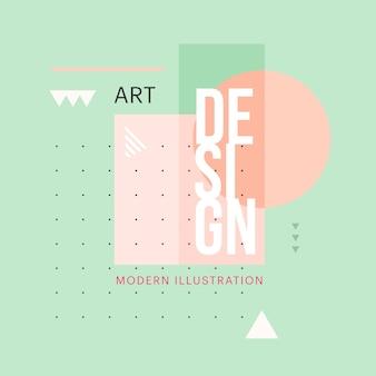 Diseño de forma geométrica minimalista de moda