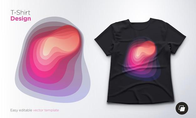 Diseño de forma de mezcla abstracta colorida para camisetas, sudaderas o recuerdos. ilustración