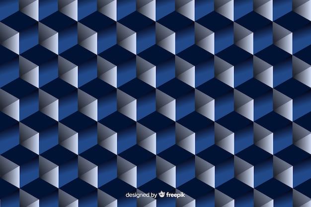 Diseño de formas geométricas en negro y azul.