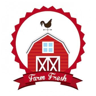 Diseño fresco de la granja