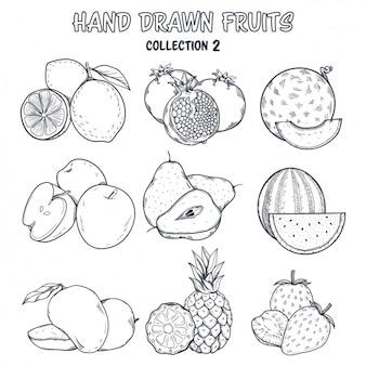 Diseño de frutapara colorear