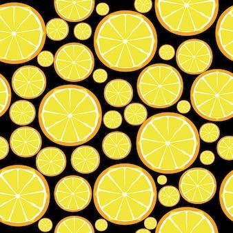Diseño de frutas de patrones sin fisuras. ilustración vectorial. eps 10.