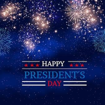 Diseño de fuegos artificiales para el día de los presidentes.