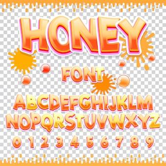 Diseño de fuente honey latin